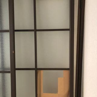 ガラスの引き戸 2枚