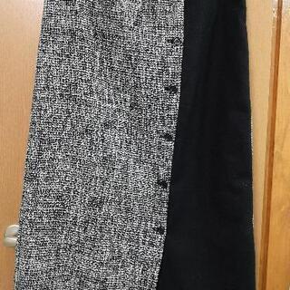 異素材巻きスカート