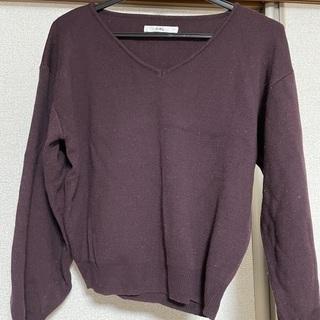 GRLVネックセーター