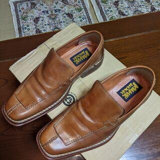男性用革靴 茶色 約25.5cm 2E