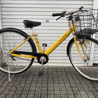 【ネット決済・配送可】【中古自転車】26インチ変速なし ベル、鍵...
