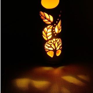 【ネット決済・配送可】竹ランプ 〜〜TREE〜〜 竹灯籠 竹灯り 癒し