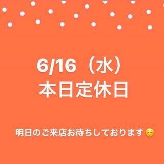 6/16(水)本日定休日