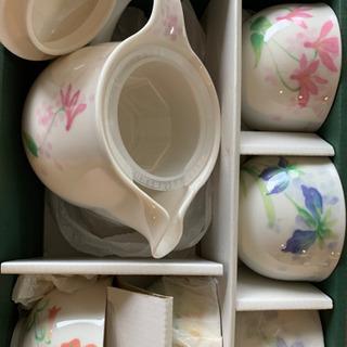 ティーポットセット 茶器 花柄 新品未使用