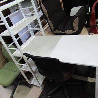 机 白 椅子付き