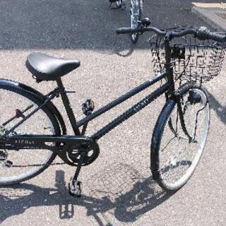 ギヤ付き26インチ自転車すぐ乗れるます