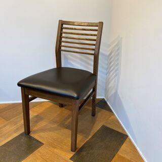 東谷 チェア 椅子 ブラウン×ブラック 木製チェア 中古品①