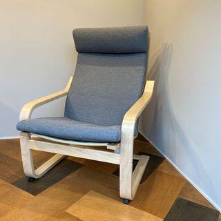 IKEA イケア パーソナルチェア 椅子 グレー 木製チェア フ...