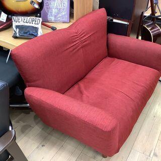ニトリ、Nクラウンの鮮やかなレッドの2人掛けソファー!