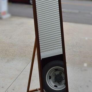 激安 先着順♪ 木目調フレーム 全身鏡 スタンドミラー W400...