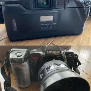 【ネット決済】ミノルタ カメラ ケース、レンズ、説明書付き!ジャンク品