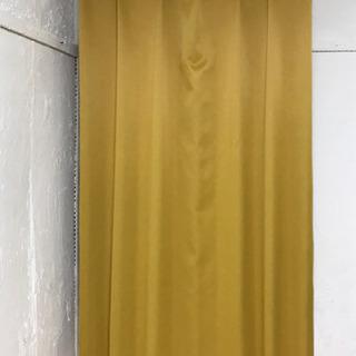 からし色遮光防炎カーテン2枚セット  100×185