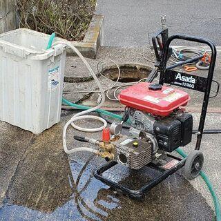 排水管の高圧洗浄作業 (