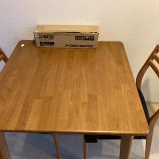 【ネット決済】値下げ! テーブル イス2脚 セット ヒーター付