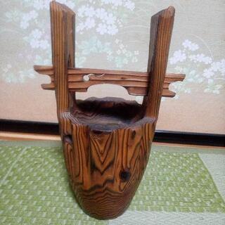 手桶型 木製花器