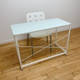 【ネット決済】IKEA ガラス デスク テーブル イス セット 在宅