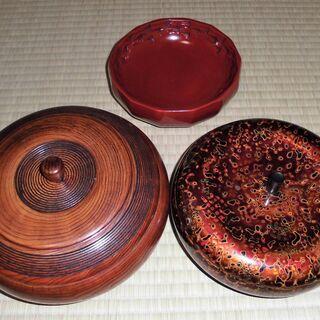 菓子器 菓子鉢 3個セット 木製 樹脂 漆 うるし