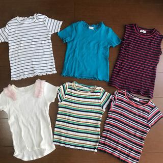 【ネット決済】子供服 リブtシャツ 110 女の子