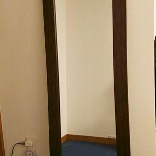 【割れない鏡】リフェクスミラー 木目調オーク