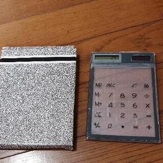 透明感のある電卓