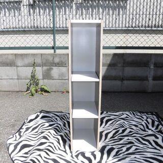 JM10969)スリムな3段カラーボックス 木目他 幅:約20c...