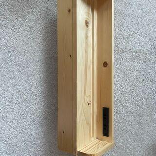 天然木すのこ すのこベッド用 棚 幅60cm