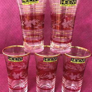 一口ビールグラス 5点セット 大塚硝子 曽根工芸  KA00645