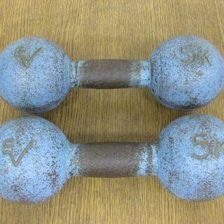 ダンベル 5kg 2個セット ブルー トレーニング 筋トレ 鉄アレイ