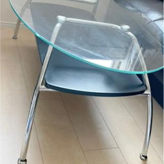 ニトリ ガラスセンターテーブル ブラック