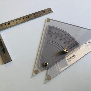 シンク 完全スコヤ15cm&マルス 勾配三角定規20cm