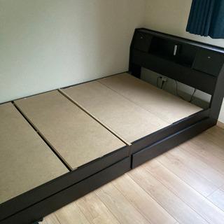 【ネット決済】セミダブル ベッドフレーム 下部収納付き