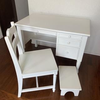 白家具 姫系 学習机