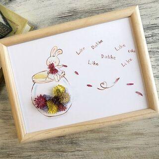 夏休み企画!ワークショップ【お花と塗り絵で作るフラワーアート】