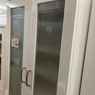【リサイクルショップどりーむ荒田店】 8623 食器棚 白 ホワ...