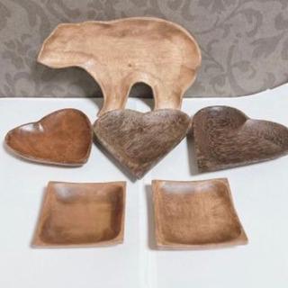【ネット決済】木彫りのプレート6枚セット