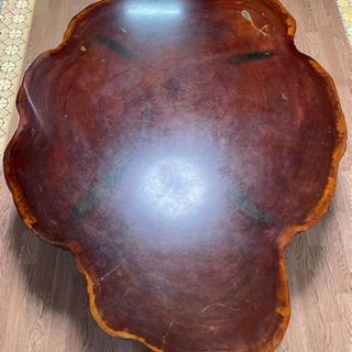 【ネット決済】値下げしました!丸太一枚板テーブル