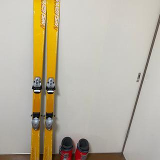 【0円】スキー板&スキーブーツ 小学校低中学年向け