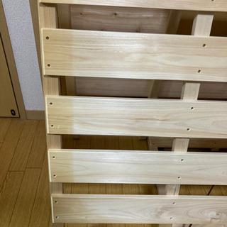 【ネット決済】【ヒノキ製】すのこベッド・セミダブル
