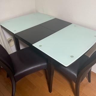 【ネット決済】伸縮式ダイニングテーブルセット