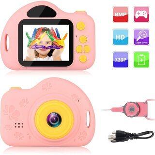 子供用 カメラ キッズカメラ 1200万画素 800P HD録画...