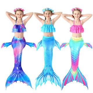 120cm☆人魚姫 子供用水着 お風呂が好きになる 人魚姫…