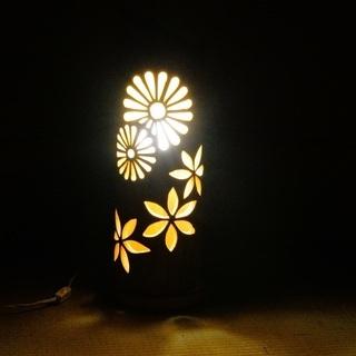 【ネット決済・配送可】竹ランプ 〜〜華火〜〜 竹灯籠 竹灯り 癒し