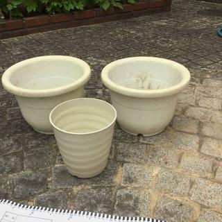植木鉢 3つ 大きめ - 京都市