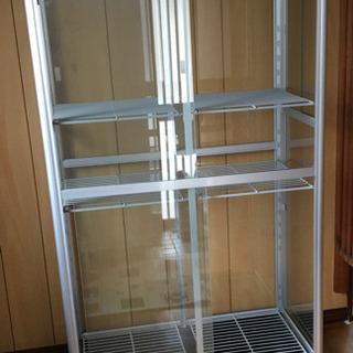 アルミ ガラス棚ショーケース コレクションケース