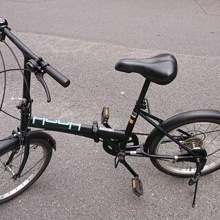 20型 折りたたみ自転車 黒 HOOH 206 V075