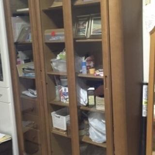 ✅今週引取限定値下げ😳多目的収納家具②🥰本棚キッチン収納