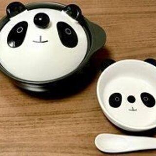 【受付中・送付可能】一人鍋用パンダ鍋 4点セット 陶器製の…