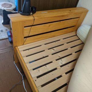 【ネット決済】木製ベッド