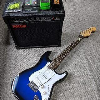 ギター、アンプ、エフェクターのセット