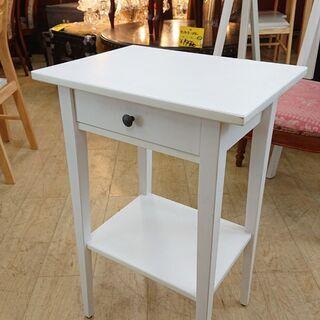 ★ IKEA イケア サイドテーブル ホワイト 引出し付き…